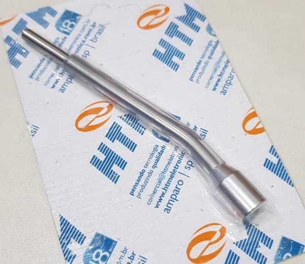 Eletrodo curvo para estimulação intra oral com tubo de silicone (unidade)