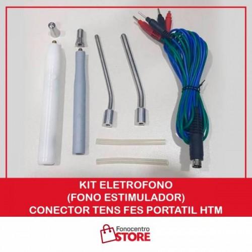 Kit EletroFono (Fono Estimulador) - Conector TENS FES Portatil HTM